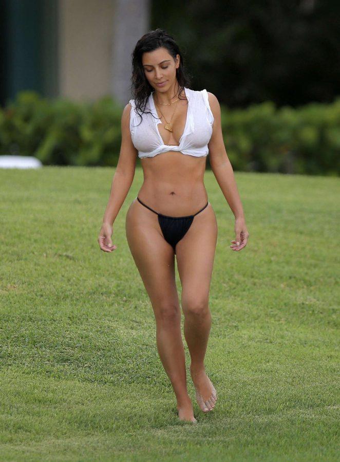Kim Kardashian in Bikini on vacation in Casa Aramara