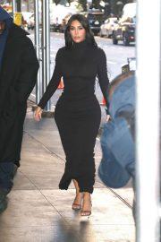 Kim Kardashian in Black Dress - Leaving for the New York Time Dealbook Conference in New York