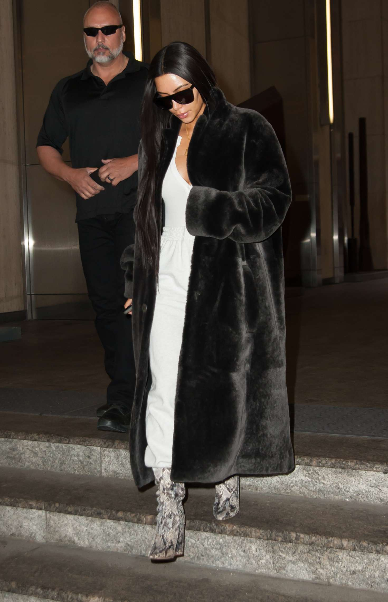 71416f0e875d Kim Kardashian in Black Fur Coat -24 – GotCeleb