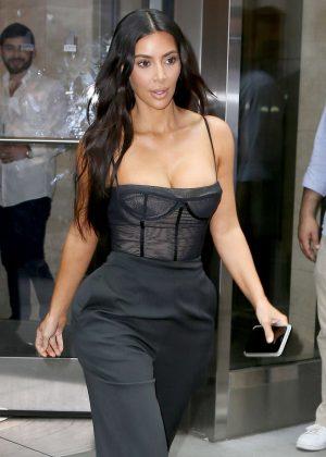 Kim Kardashian in Black Out in NYC