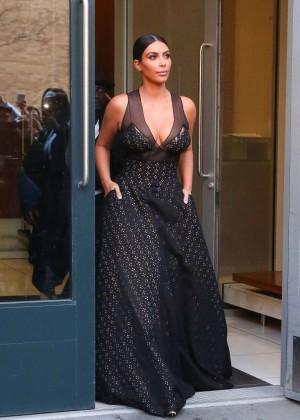 Kim Kardashian in Long Dress out in NYC