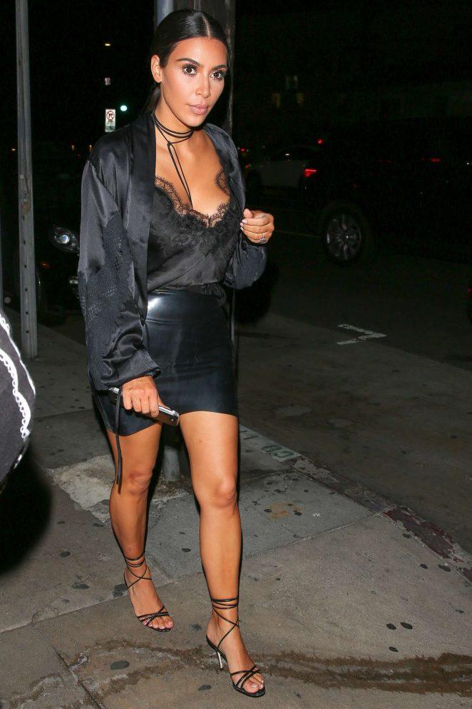 Kim Kardashian in Mini Skirt -06