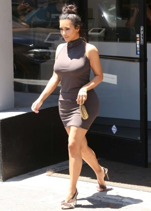 Kim Kardashian in Short Dress out in West Hollywood