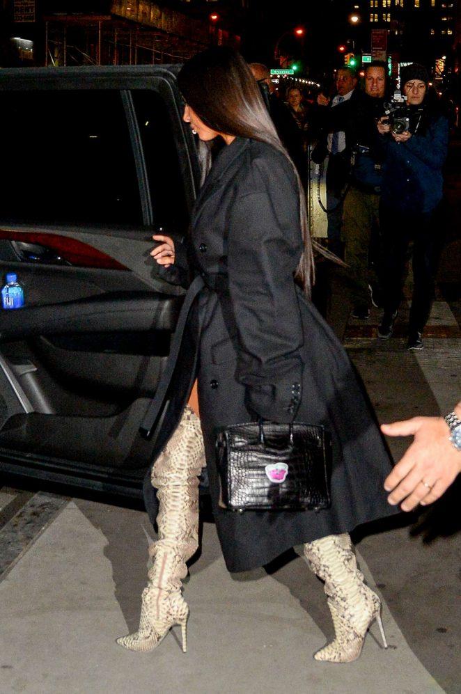 Kim Kardashian in thigh high boots -11