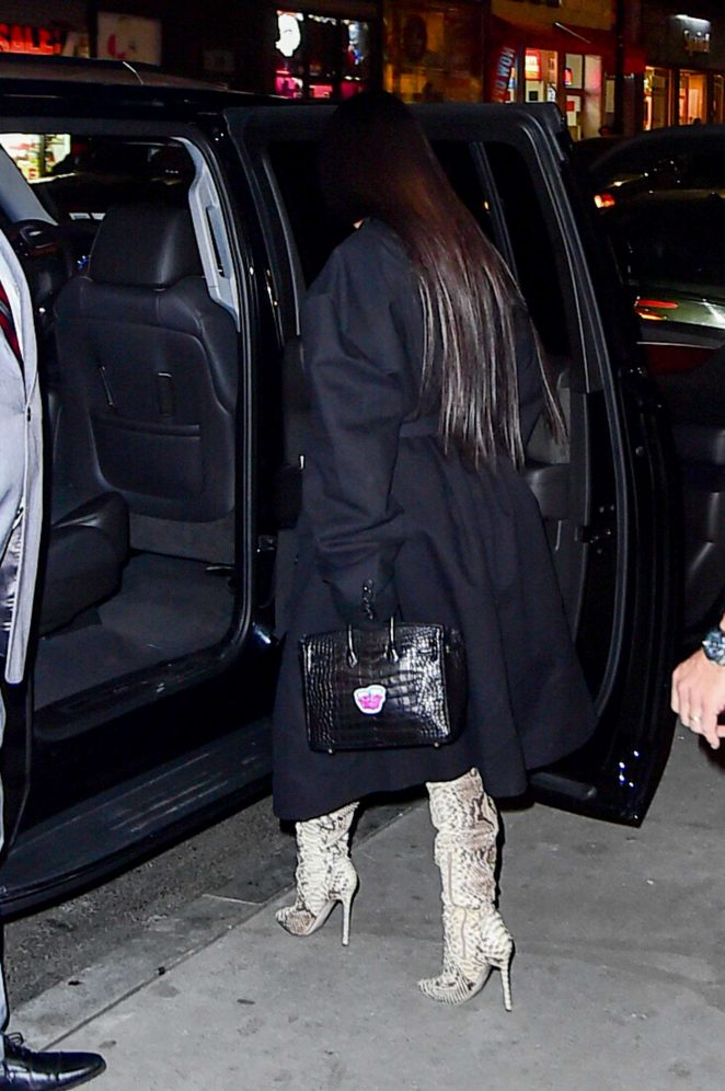 Kim Kardashian in thigh high boots -13