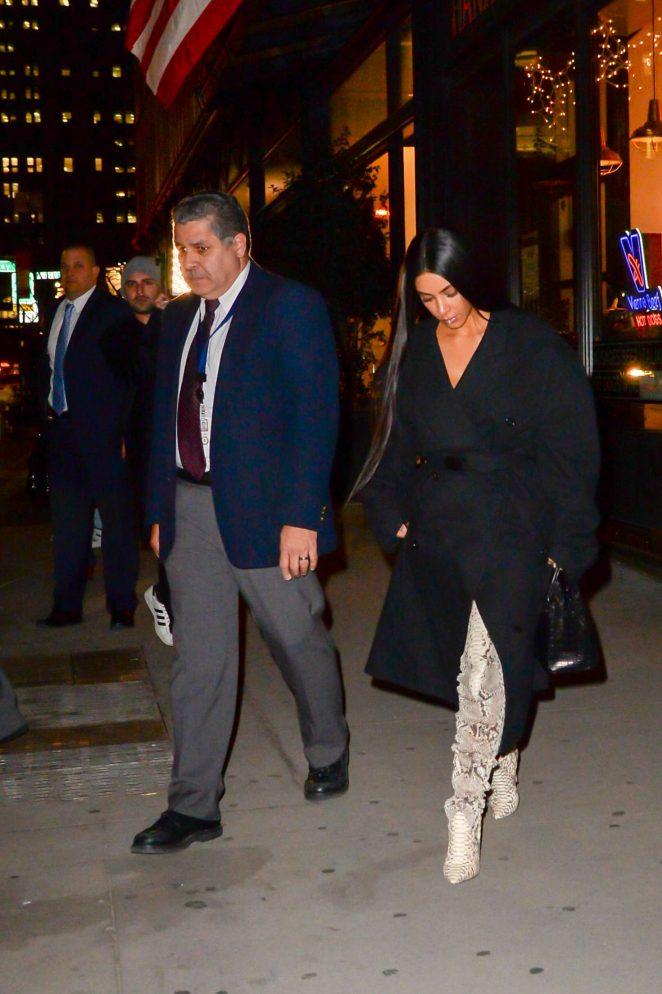 Kim Kardashian in thigh high boots -14