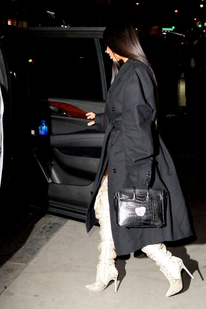 Kim Kardashian in thigh high boots -16