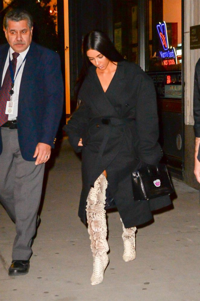 Kim Kardashian in thigh high boots -18
