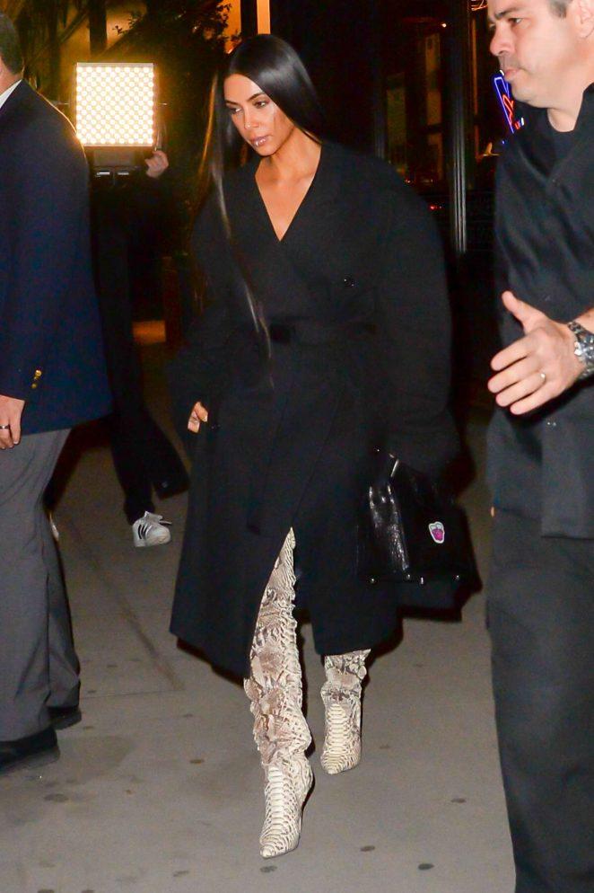 Kim Kardashian in thigh high boots -19