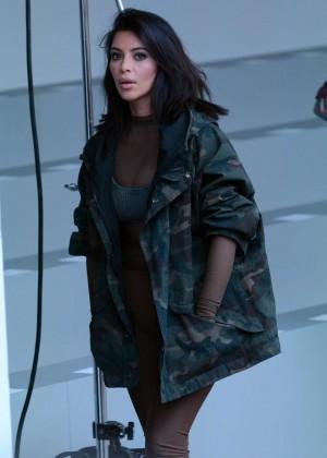 Kim Kardashian - Kanye West 2015 Fashion Show in NYC