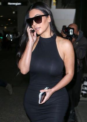 Kim Kardashian - LAX airport in LA