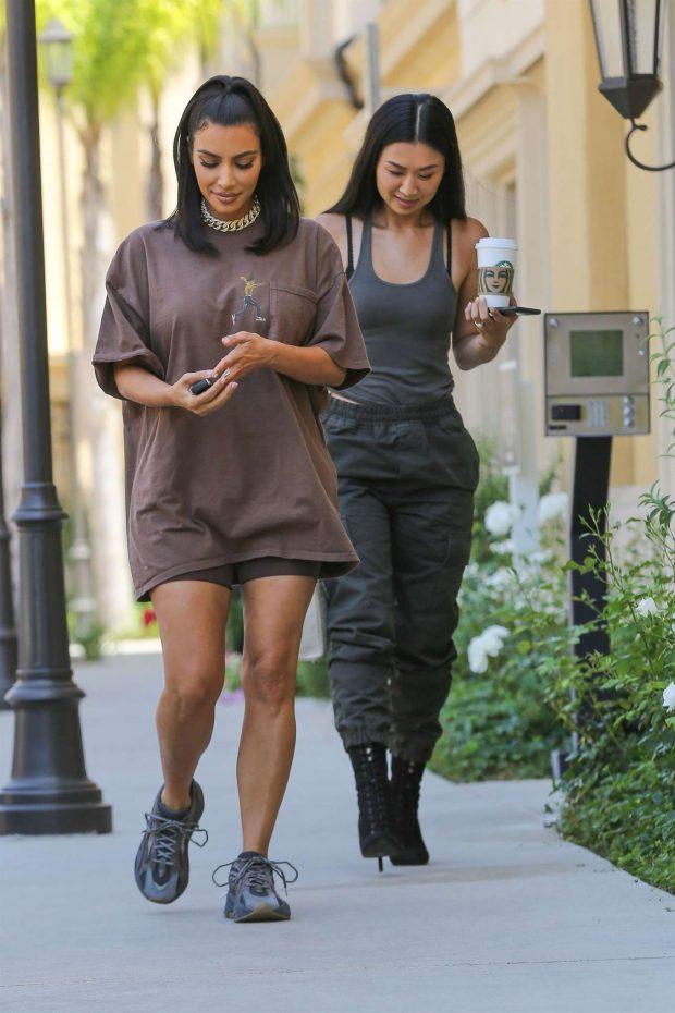 Kim Kardashian: Leaves a meeting in Calabasas-01