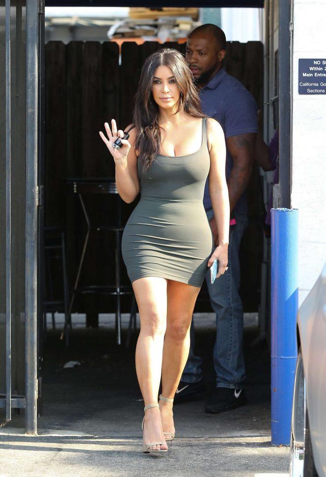 Kim Kardashian In Tight Short Dress 02 Gotceleb