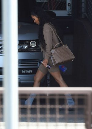 Kim Kardashian - Leaving a studio in West Hollywood