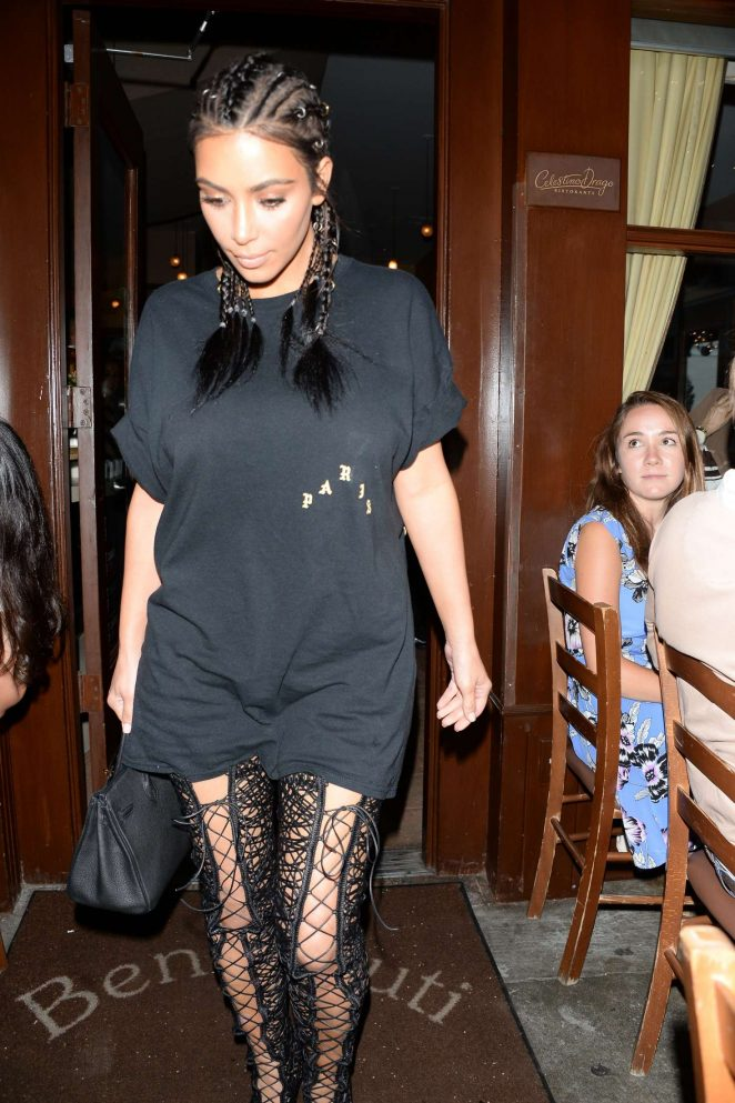 Kim Kardashian - Leaving dinner at Il Pastaio in Beverly Hills
