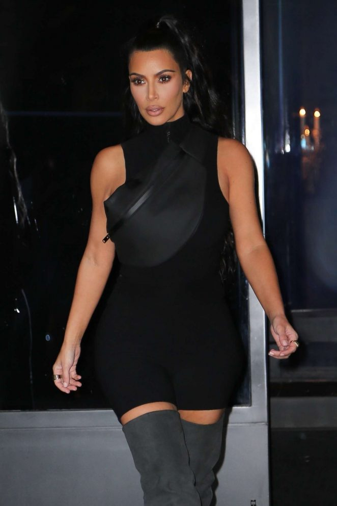 Kim Kardashian - Leaving Estiatorio Milos in New York
