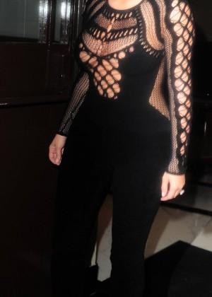 Kim Kardashian in Tight Jumsuit -09