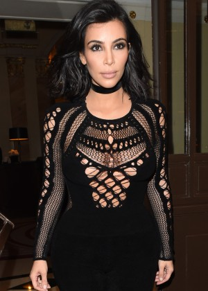 Kim Kardashian in Tight Jumsuit -15