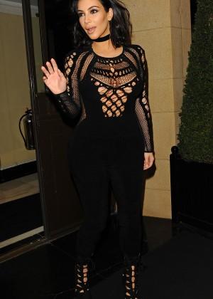 Kim Kardashian in Tight Jumsuit -18