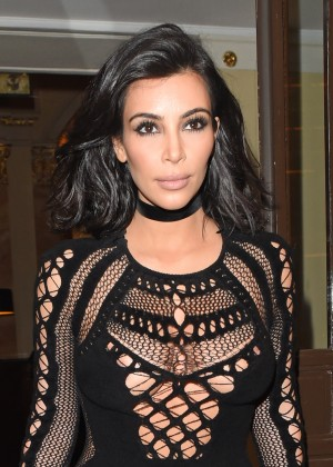Kim Kardashian in Tight Jumsuit -26
