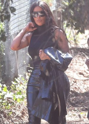Kim Kardashian - Leaving Kanye West's church service in Los Angeles