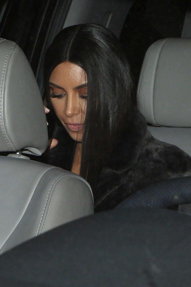 Kim Kardashian Leaving Milk Studios in Hollywood