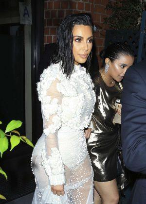 Kim Kardashian Leaving Mr. Chow in Beverly Hills