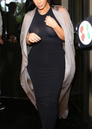 Kim Kardashian: Leaving the Dorchester Hotel -03