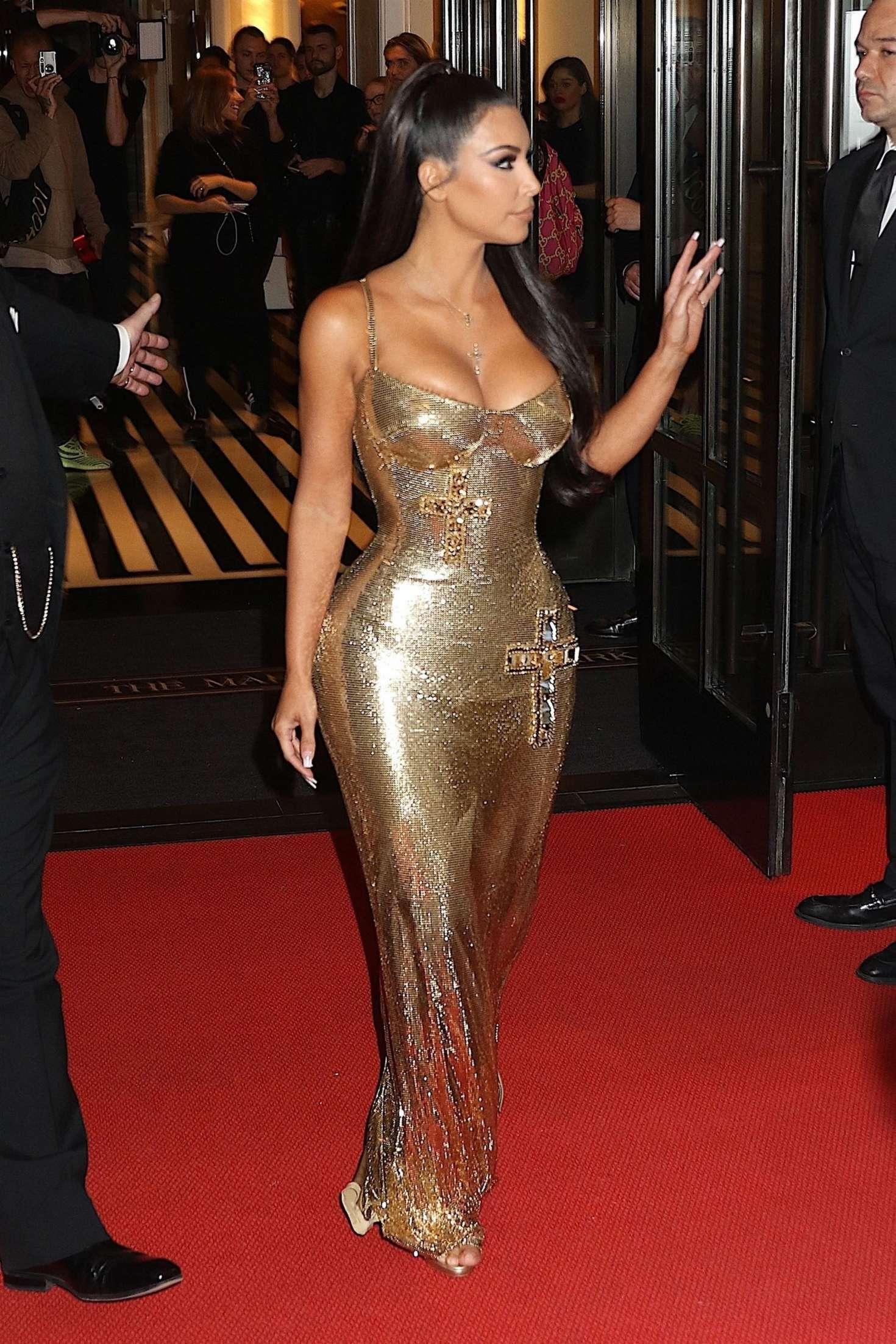 Kim Kardashian: Leaving the Mark Hotel to attend Met Gala -06 | GotCeleb