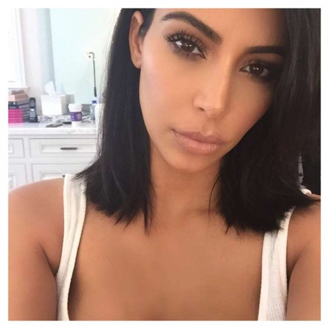 Kim Kardashian New Short Haircut - Instagram