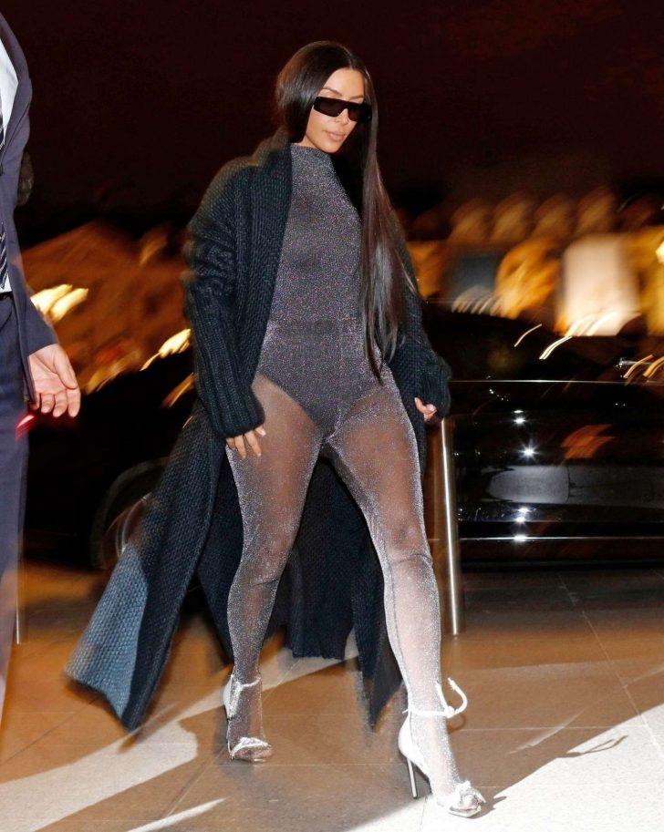 Kim Kardashian - Nighout in Paris