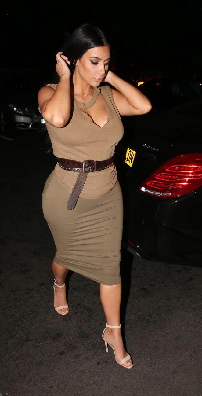 Kim Kardashian - Night out in London