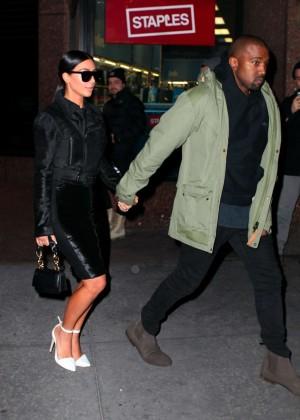 Kim Kardashian in Black Dress -03