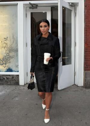Kim Kardashian in Black Dress -04
