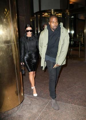 Kim Kardashian in Black Dress -07