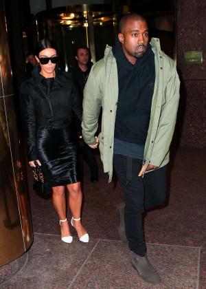 Kim Kardashian in Black Dress -09