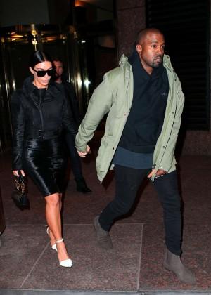 Kim Kardashian in Black Dress -10