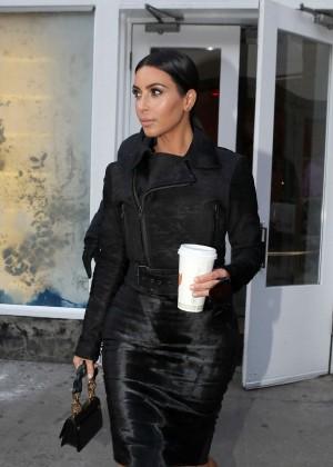 Kim Kardashian in Black Dress -15