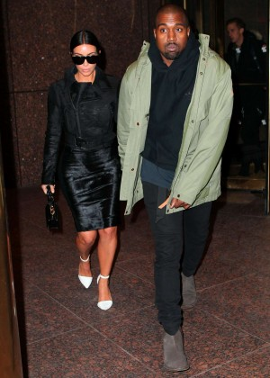 Kim Kardashian in Black Dress -16