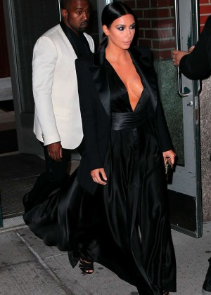 Kim Kardashian in Black Dress -17