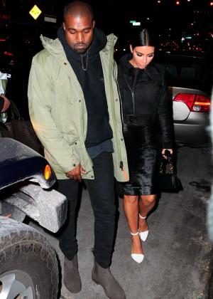 Kim Kardashian in Black Dress -20