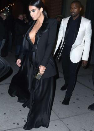 Kim Kardashian in Black Dress -22