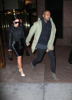 Kim Kardashian in Black Dress -23