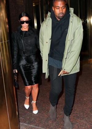Kim Kardashian in Black Dress -25