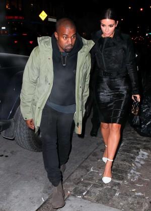 Kim Kardashian in Black Dress -26