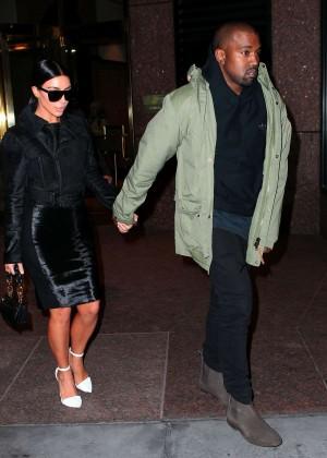Kim Kardashian in Black Dress -28