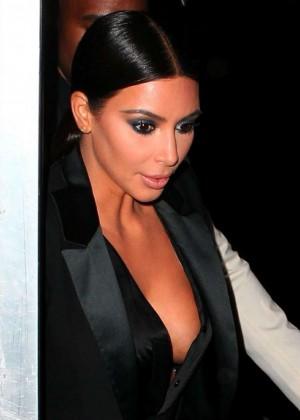 Kim Kardashian in Black Dress -30