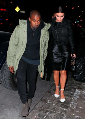 Kim Kardashian in Black Dress -32