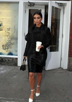 Kim Kardashian in Black Dress -35