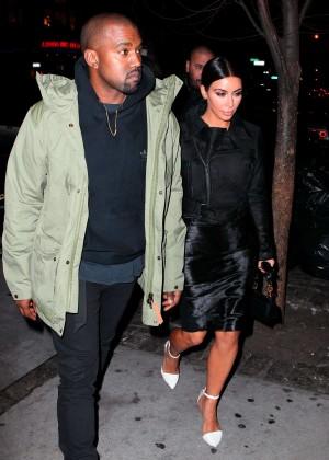 Kim Kardashian in Black Dress -36
